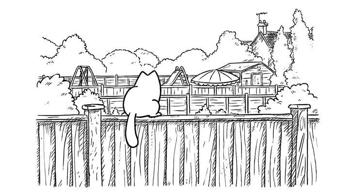 Кот Саймона 11 серия — За забором