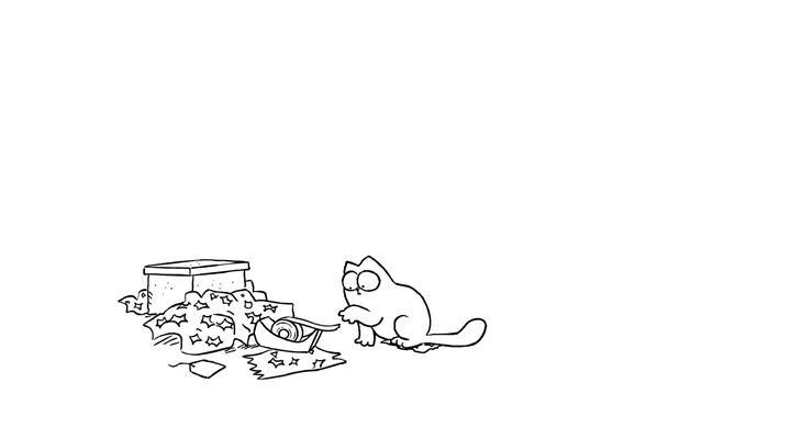 Кот Саймона 13 серия — Липкая лента