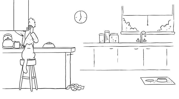Кот Саймона 28 серия — Покорми меня