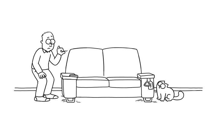 Кот Саймона 41 серия — Трусливый кот